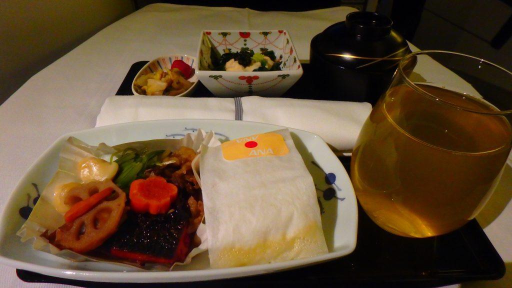 ANAビジネスクラス機内食 和食 ヨーロッパ便