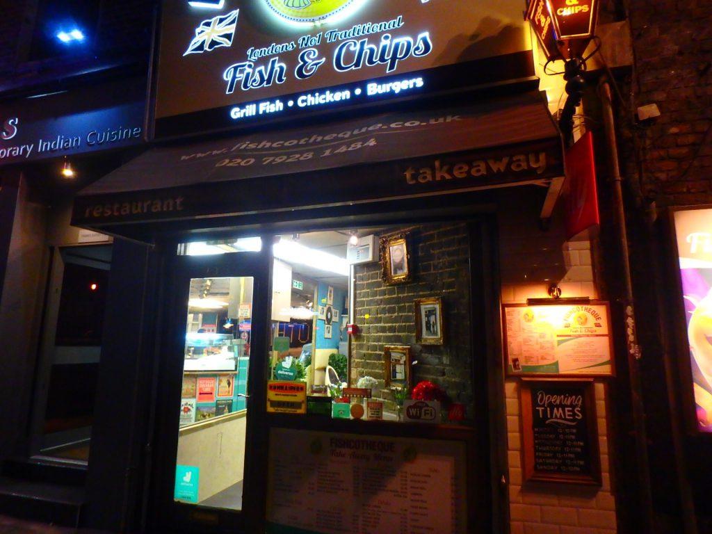 ロンドン フィッシュ&チップスの名店