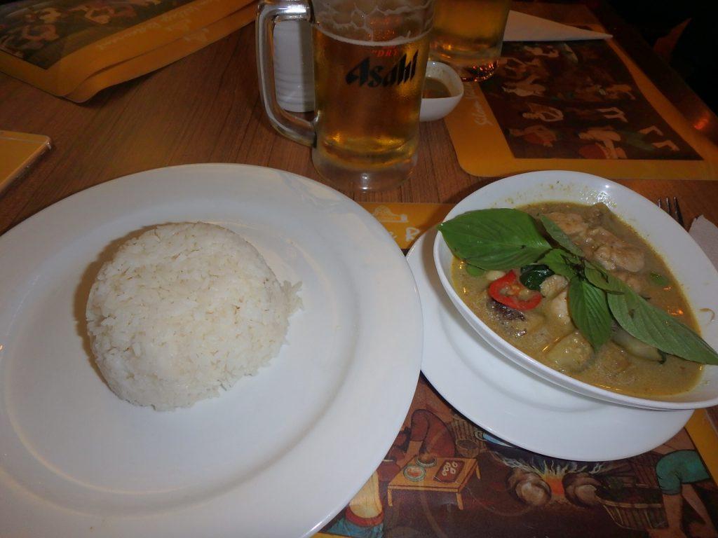 バンコク スワンナプーム空港のグリーンカレー 美味しい