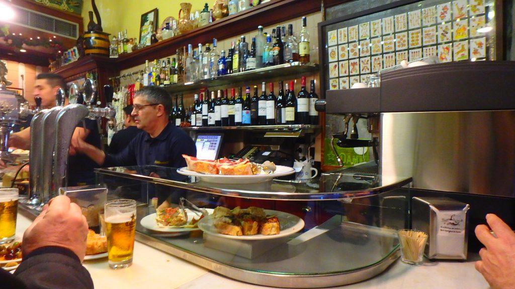 バルセロナのバル 注文方法