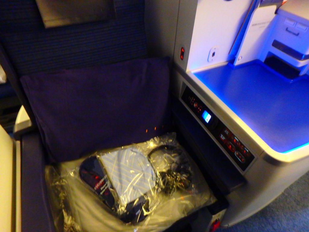 ANAビジネスクラスの座席 ヨーロッパ便