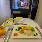ANAヨーロッパ便のビジネスクラス搭乗記。機内からオーロラが見えたよ!