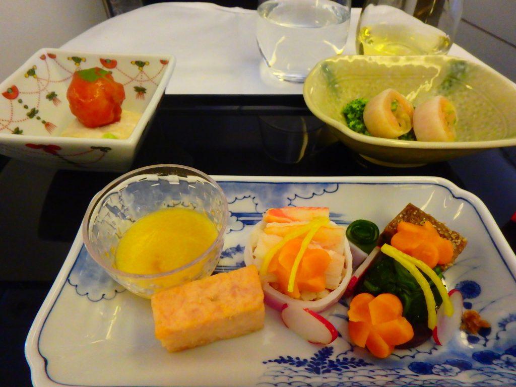 ANAビジネスクラス 機内食 和食