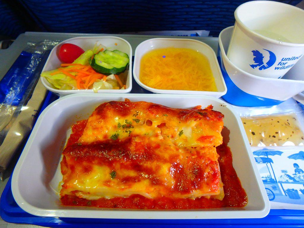 バンコクエアウェイズ機内食