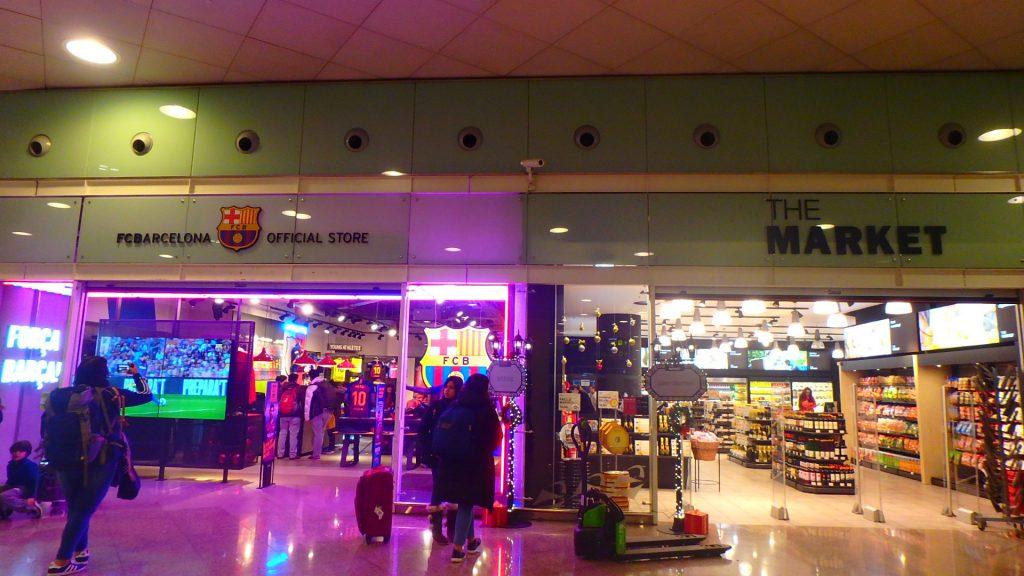バルセロナ空港 バルサ ショップ