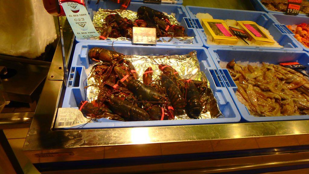 バルセロナのスーパー シーフード 海鮮