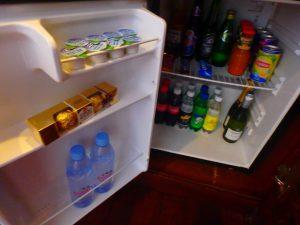 モルディブのホテル 冷蔵庫