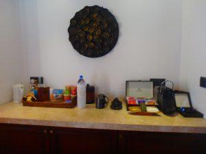 モルディブのホテル 部屋のコーヒー