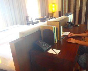 モルディブのホテル 書斎