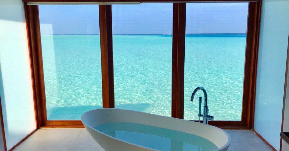 モルディブ 海が見えるお風呂