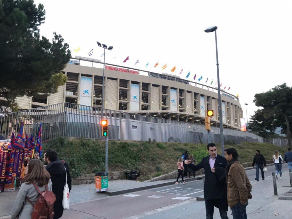 カンプノウスタジアム 外観 バルセロナ