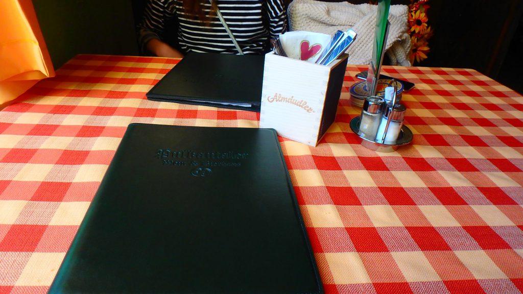 ウィーンのレストラン メニュー