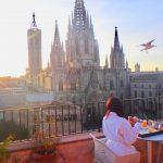 バルセロナで一番おすすめしたいおしゃれな絶景ホテル。〜バルコニーで朝食
