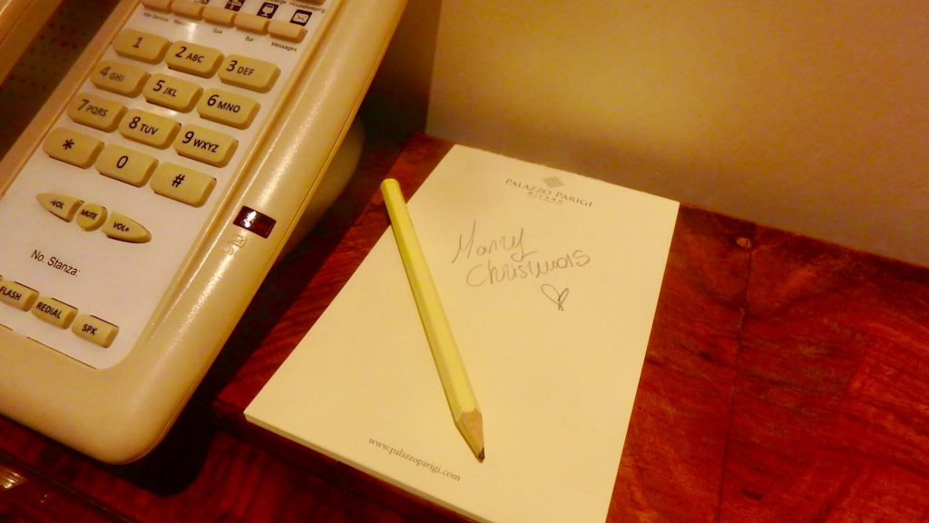 イタリア 高級ホテル クリスマス ブログ