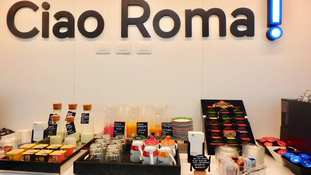 ローマ フィウミチーノ空港内ホテル ビュッフェ