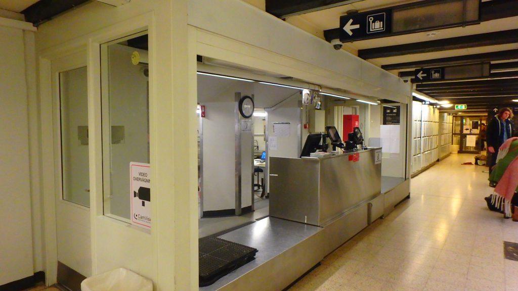 コペンハーゲン中央駅 手荷物預け所