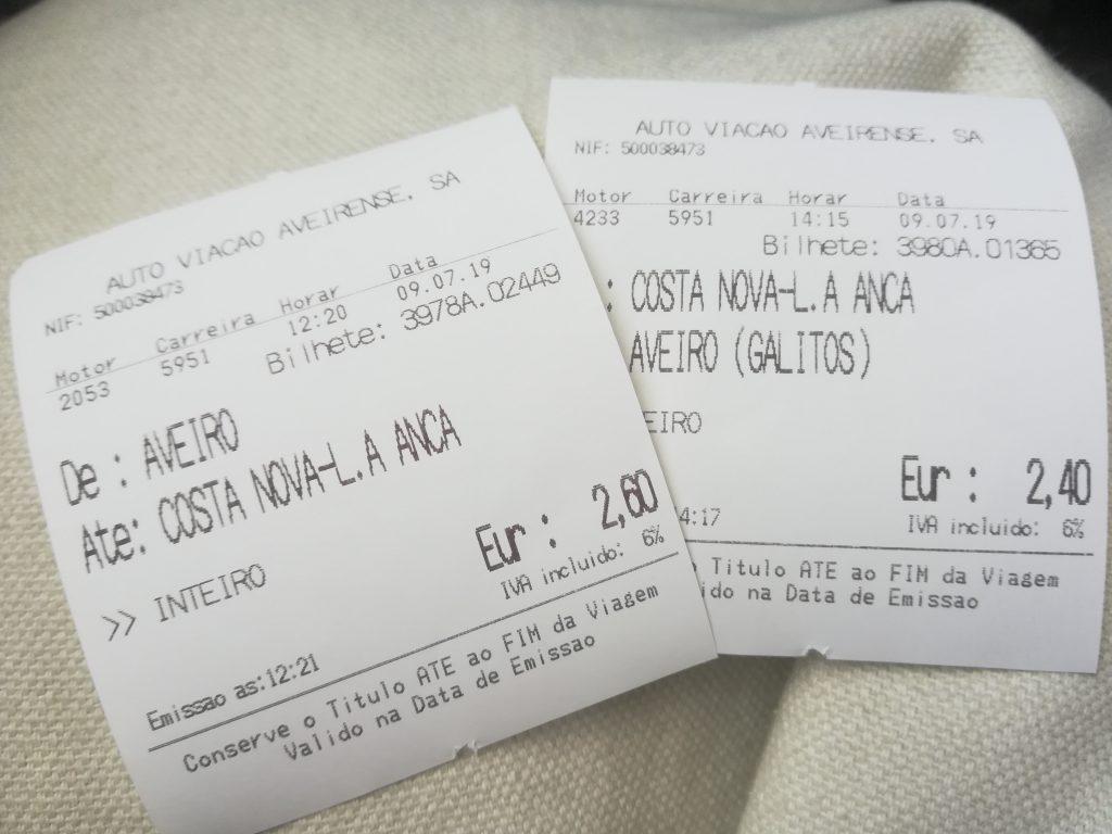 ポルトガル バス チケット