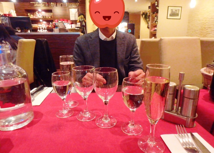 パリ ビストロ シャンパン