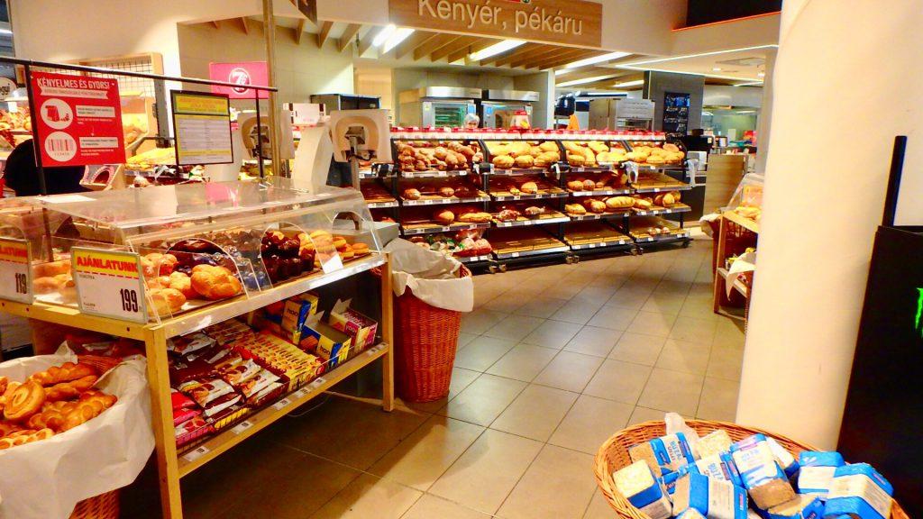 ブダペスト スーパー パン屋さん