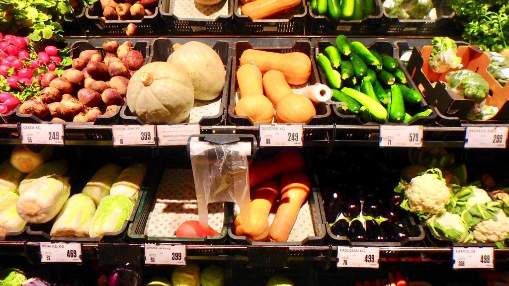 ブダペスト スーパー 野菜