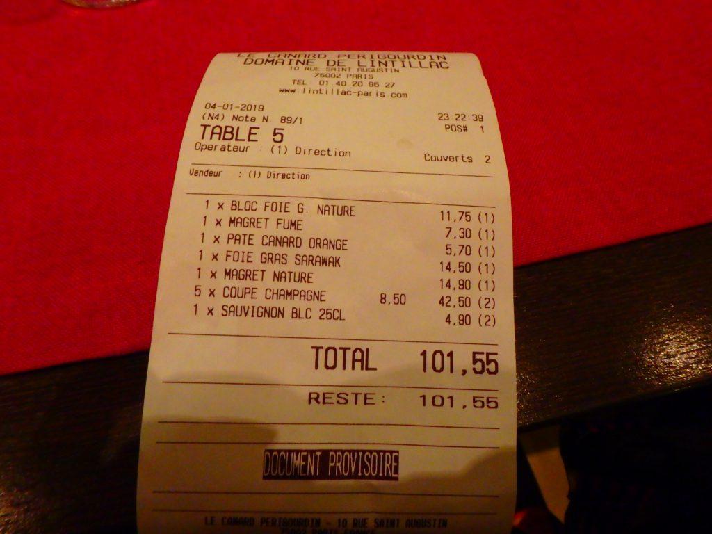 パリ ビストロ 安い 料金