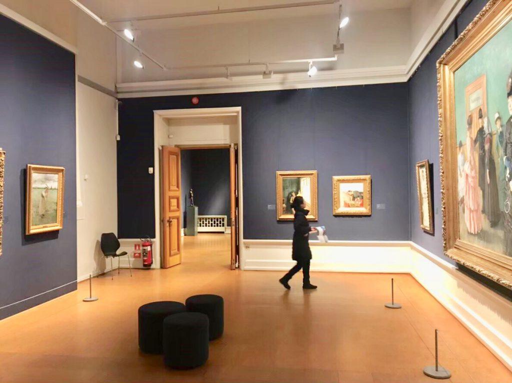 オスロ 美術館内 ノルウェー