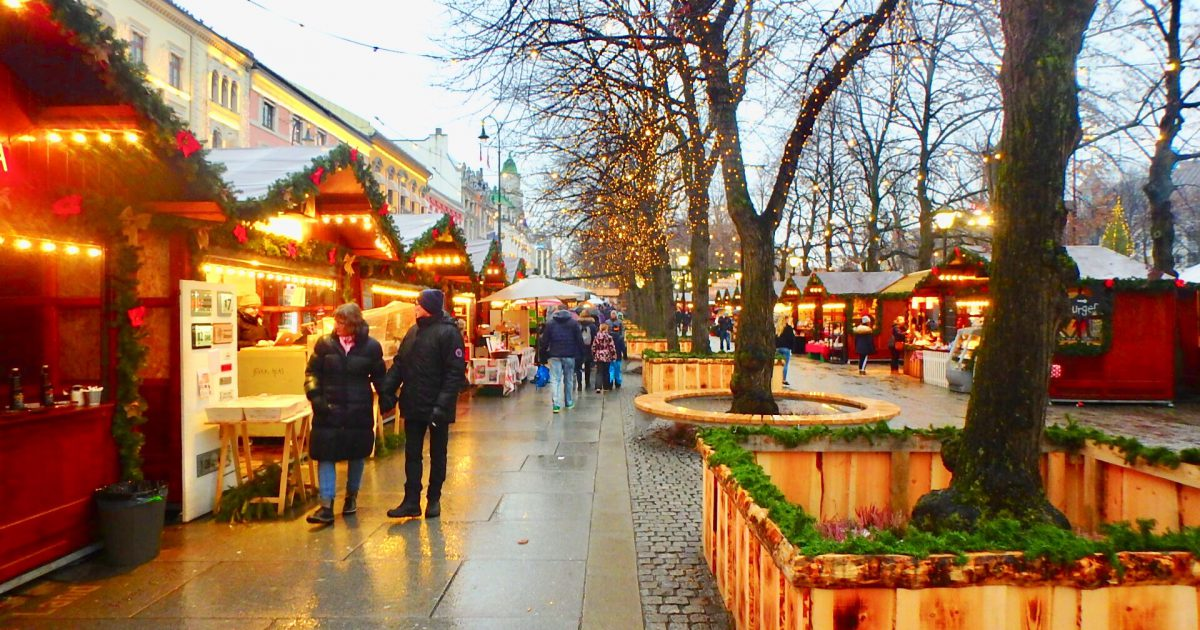 ノルウェー オスロ クリスマスマーケット