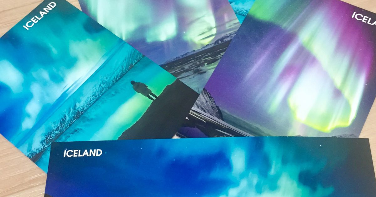 アイスランド お土産 ポストカード