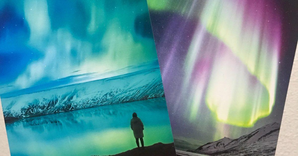アイスランド お土産 オーロラ ポストカード