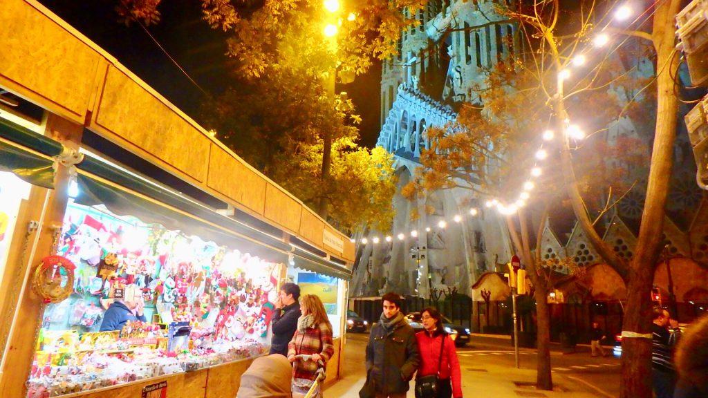 クリスマスマーケット サグラダファミリア