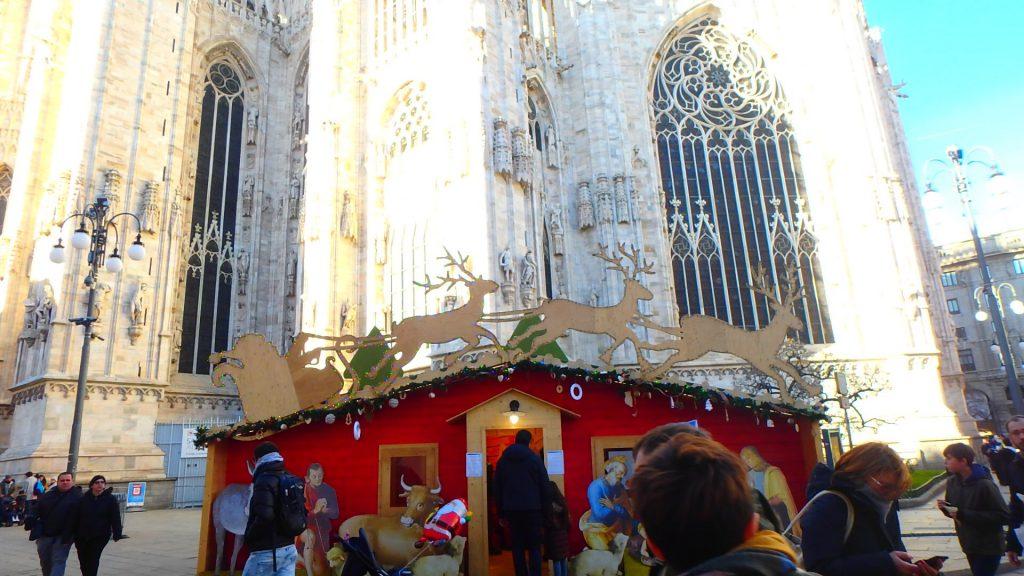 ミラノ中央駅 クリスマスマーケット