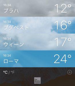 チェコ プラハ 気候 気温