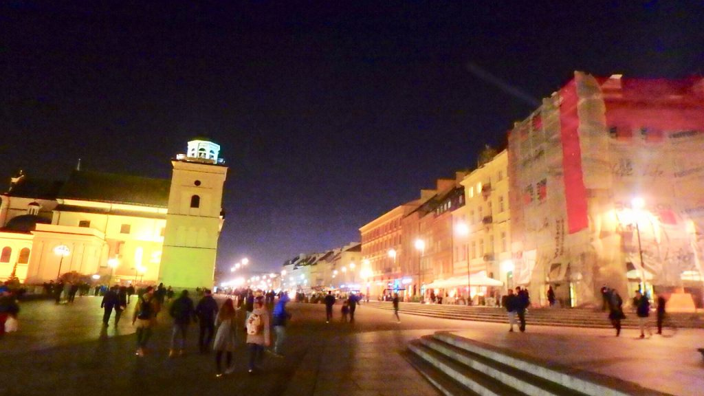 ワルシャワ観光 夜
