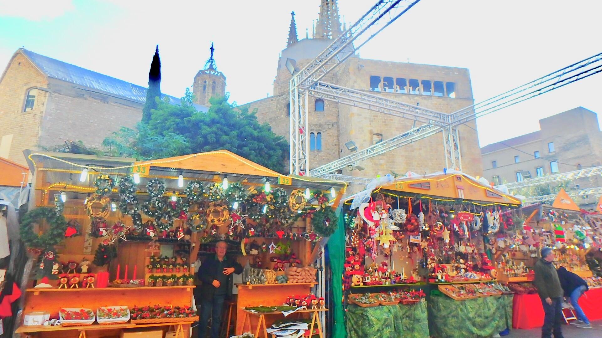 バルセロナ クリスマスマーケット