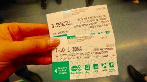 バルセロナ メトロ 切符 10回 回数券