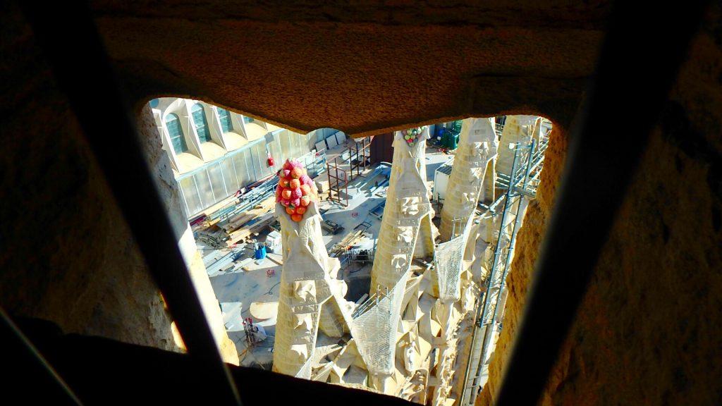 サグラダファミリア 頂上から見た工事