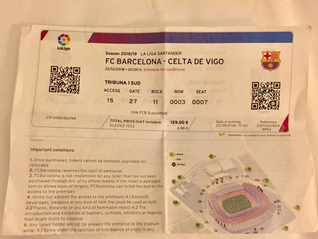 FCバルセロナ チケット