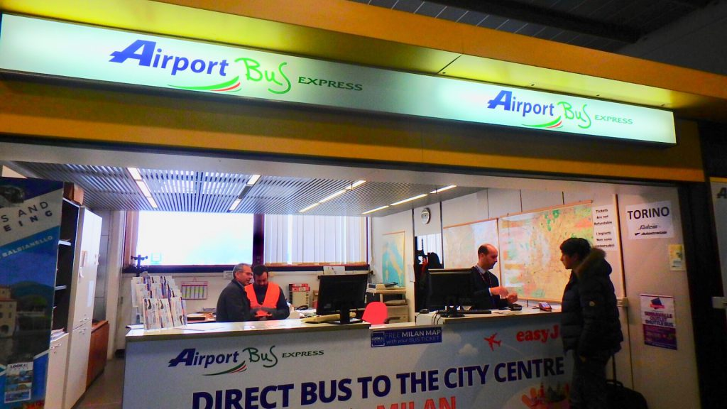 ミラノ空港 ターミナル2 バス チケット