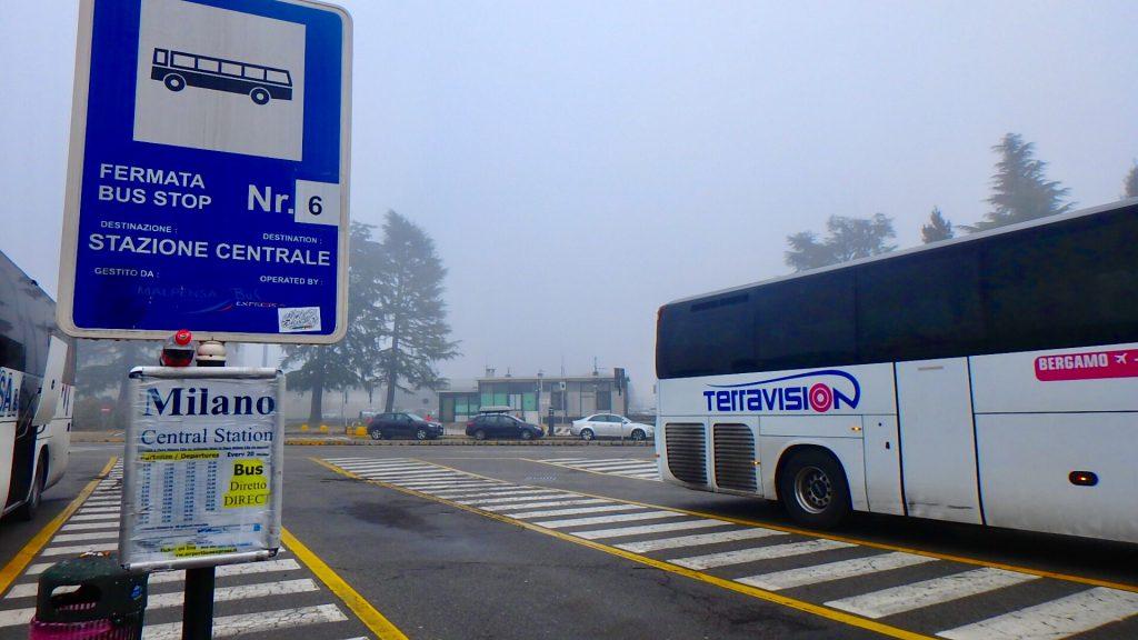 ミラノ空港 ターミナル2 市内行き バス