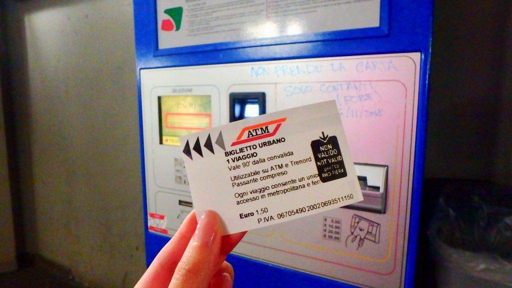 ミラノ メトロ 切符