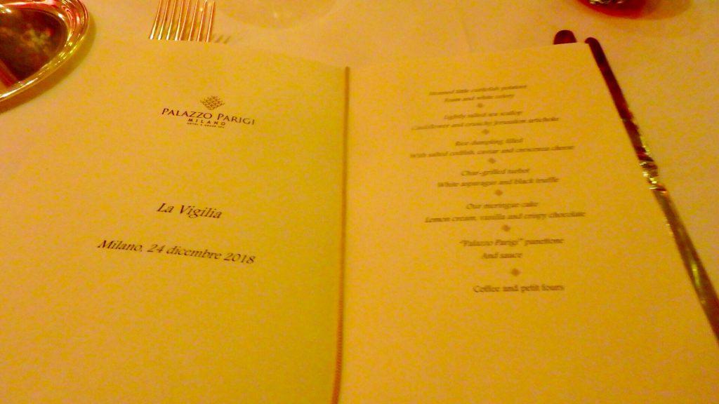 ミラノ 高級レストラン ディナー メニュー