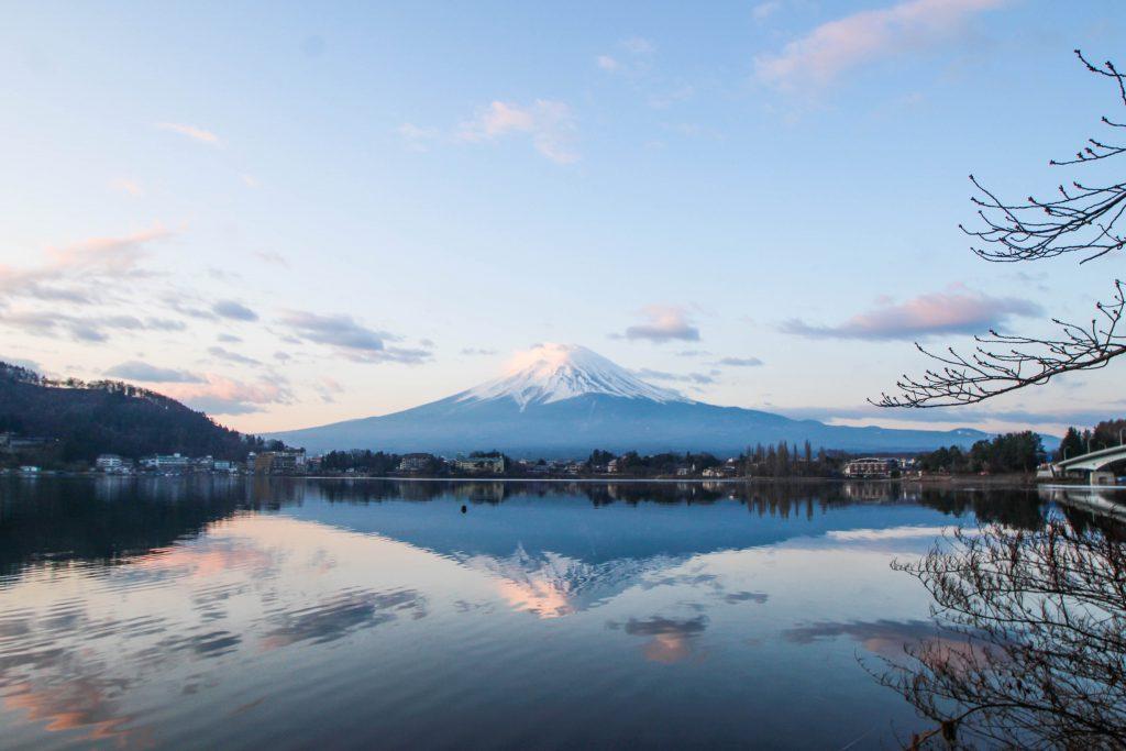 河口湖 逆さ富士