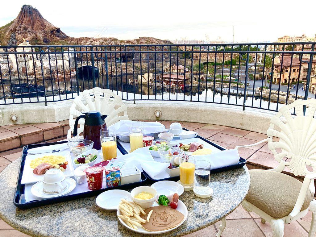 ミラコスタ ルームサービス 朝食